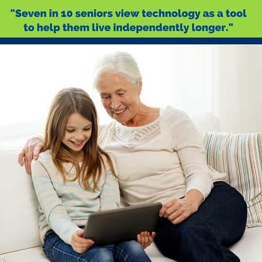 Grandma on an iPad