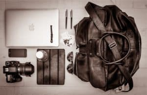 Laptop with bag and other devices