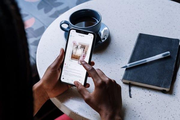 Instagram smart phone