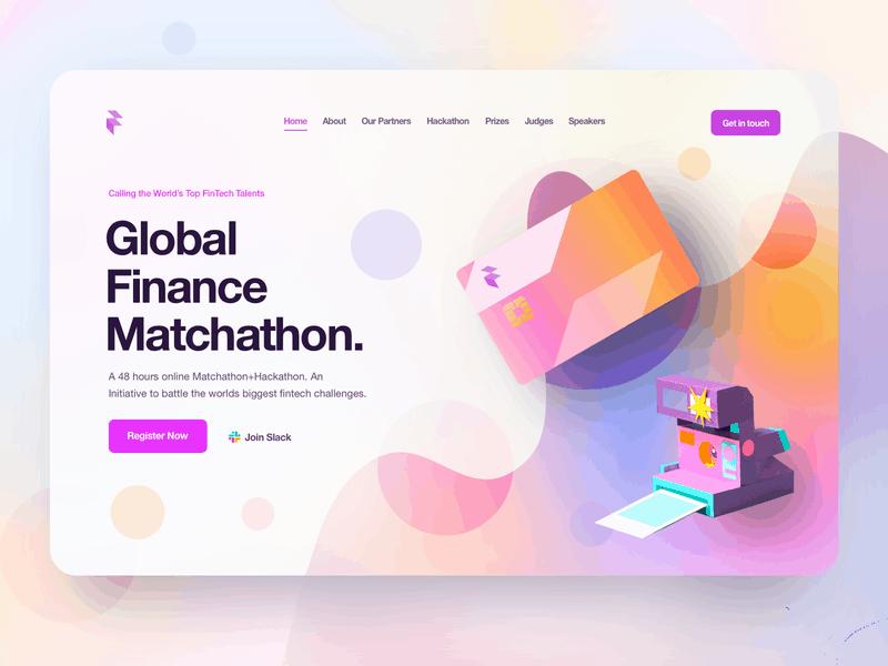 Gradient website design by Alex Banaga