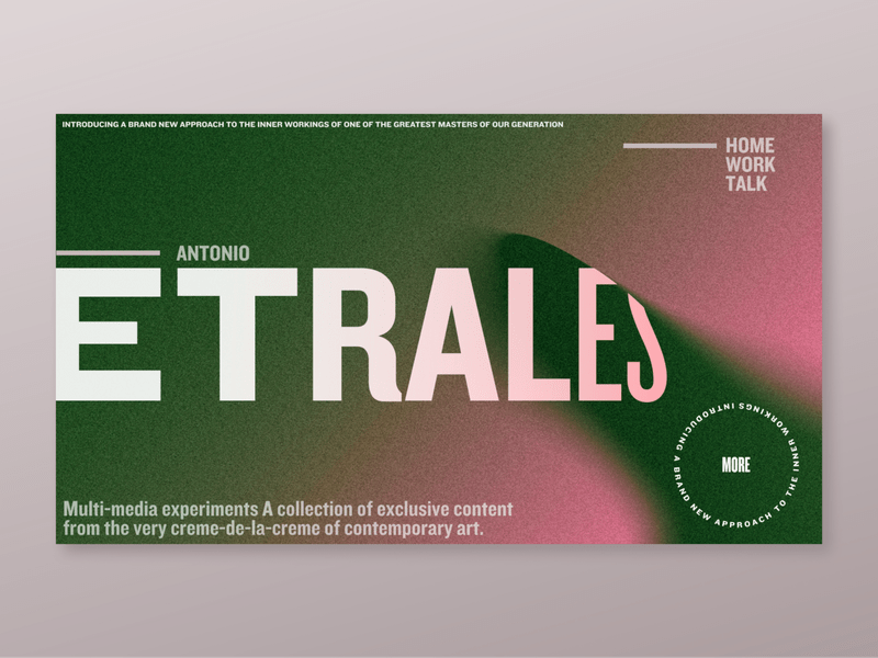 Grainy Gradients font by Samson Vowles on Dribbble