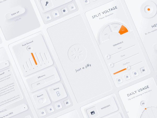 neumorphic smart home app by Samson Vowles