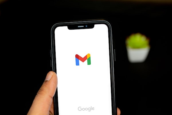martphone displaying Gmail email app
