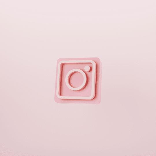 Instagram icon neumorphism